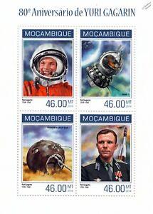 LibéRal Cosomonaut Gagarine Premier Homme Dans L'espace Timbre Feuille (2014 Mozambique)-afficher Le Titre D'origine Jouir D'Une RéPutation éLevéE Chez Soi Et à L'éTranger