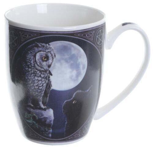 Tasse Weisheitseule und Katze gefunden Porzellan  Kaffeetasse Lisa Parker