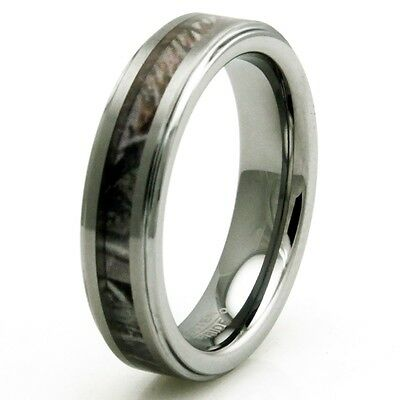 Tungsten Carbide Forest Woods Hunting Camouflage Wedding Band Ring 5MM