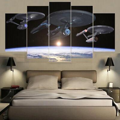 Star Trek Enterprise Fleet Five Piece Framed Canvas Home ...