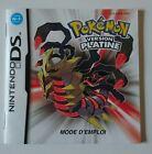 Notice seule PAS DE JEU Nintendo DS Pokemon Platine Fra complète très bon état