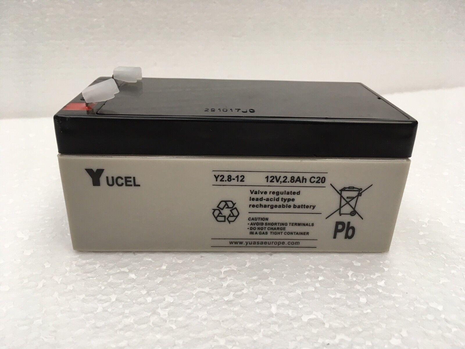 Y2.8-12 Yuasa yucel 12 V 2.8 Ah batería SLA Alarmas, Luces De Emergencia, los coches de juguete