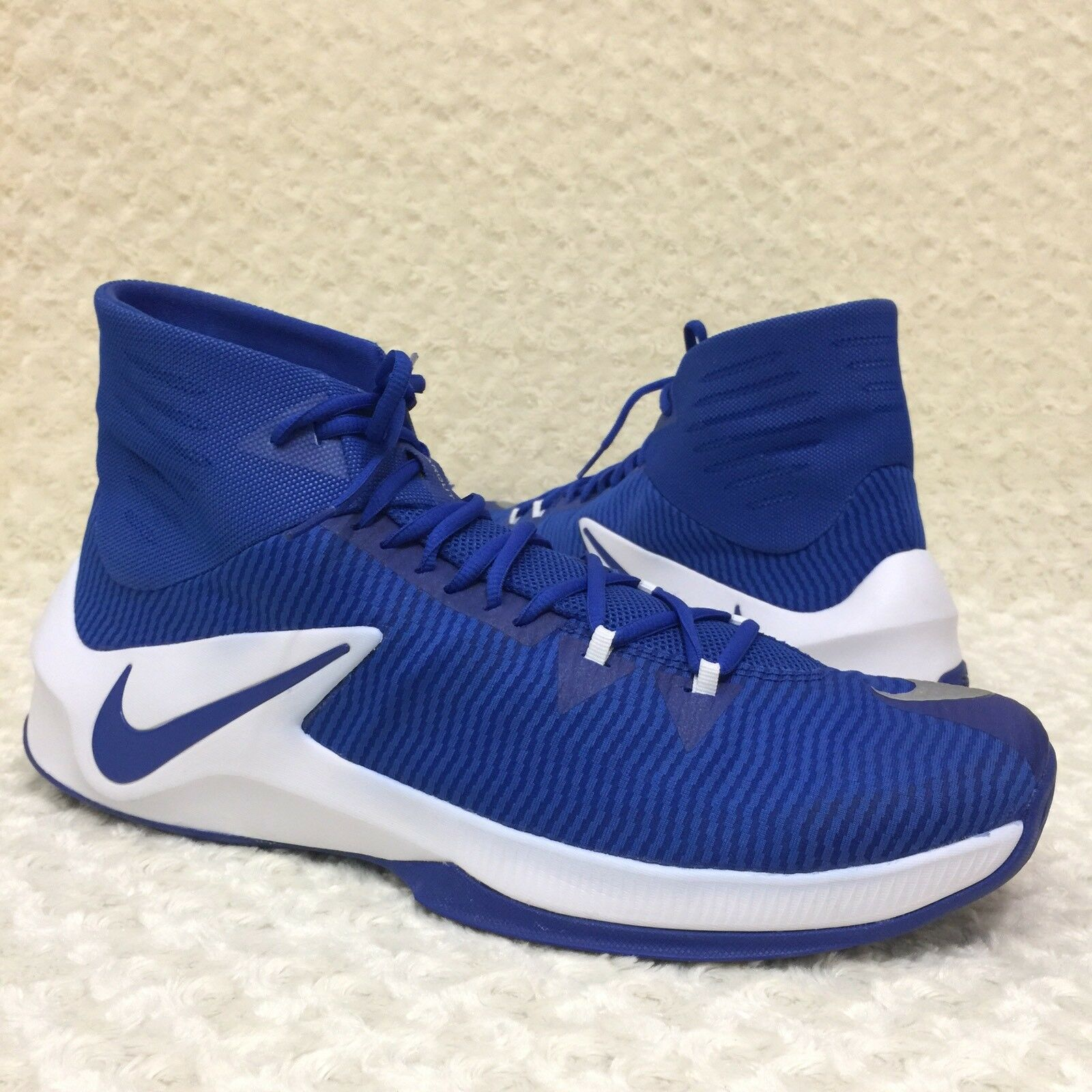Nike Zoom Clear Out Big Size 17.5 US Basketball Shoes Blue White 856486-441 New