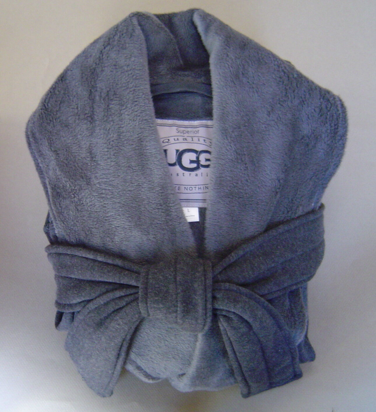 NWT $ 125 UGG Australia DUFFIELD Taille S ROBE À CHAUSSONS BLANCHES Noir Heather UA4101W