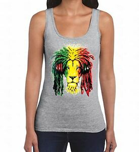 Rasta Lion Headphones Women Tank Top Jamaican Rastafari