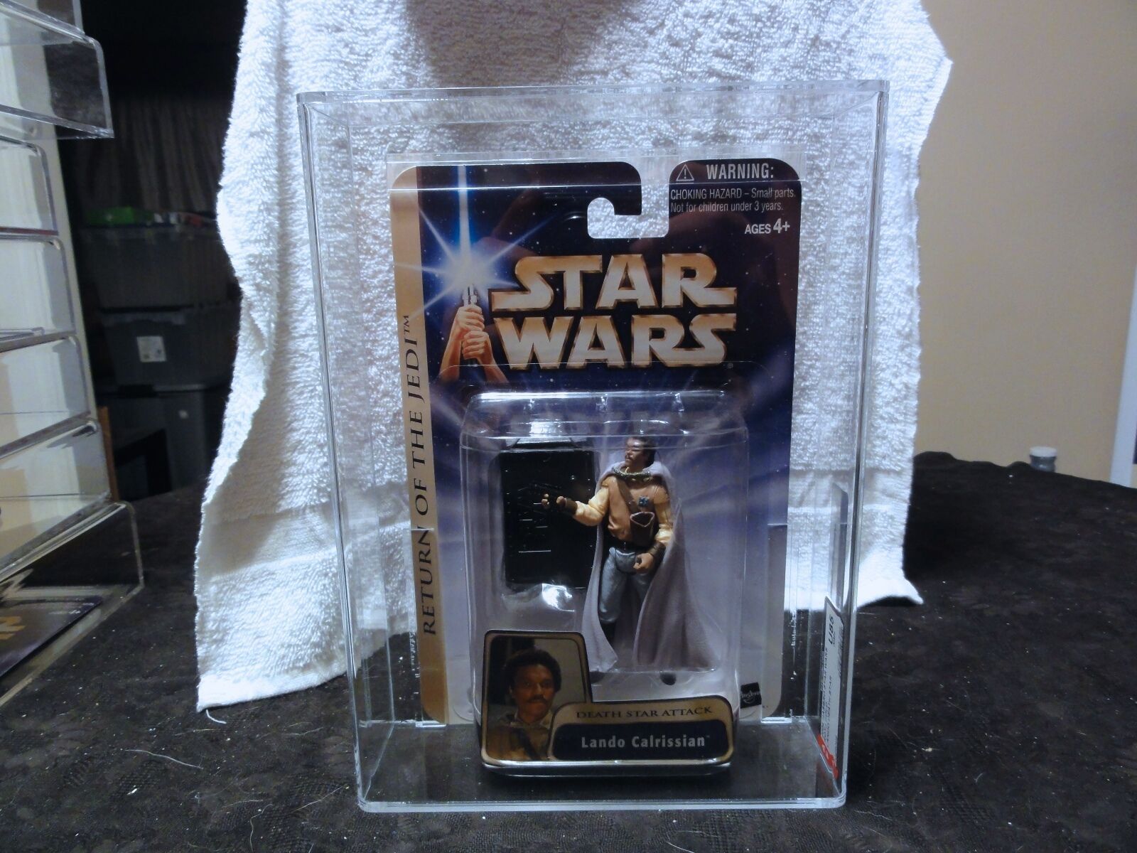 Star Wars 2004 Star Wars ROTJ Gold Lando Death Star AFA Sealed MIB BOX