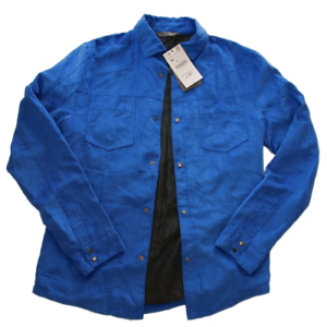 ZARA-men-s-man-new-coat-jacket-clothes-shirt-bomber-colour-blue-size-M