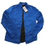 ZARA-men-s-man-new-coat-jacket-clothes-shirt-bomber-colour-blue-size-M thumbnail 1