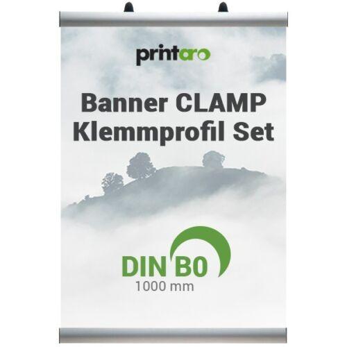 Werbebanner-Klemmschienen-Set Alu-CLAMP B1 quer 100 cm