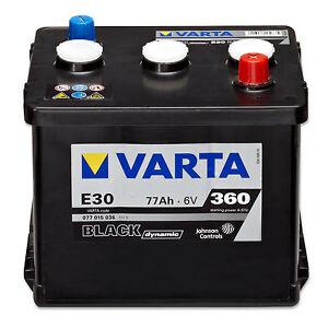 autobatterie 6v 77ah varta black dynamic e30 oldtimer ebay. Black Bedroom Furniture Sets. Home Design Ideas