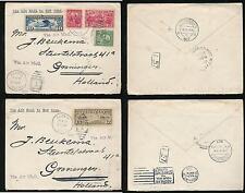 Stati Uniti 1927 POSTA AEREA frankings in Olanda Colorado paonia tramite NY... 2 Buste