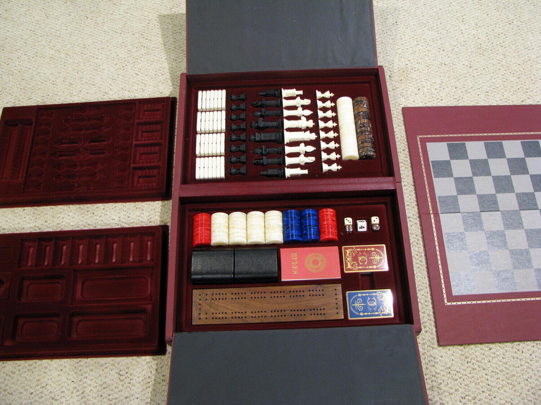 FRANK MINT CLERMONT club gioco COMPENDIUM scatola SET - CHESS, ETC. - NON UTILIZZATO