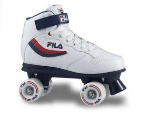 Fila Pattini 4 ruote Skates Ace Quads, Bianco-Blu