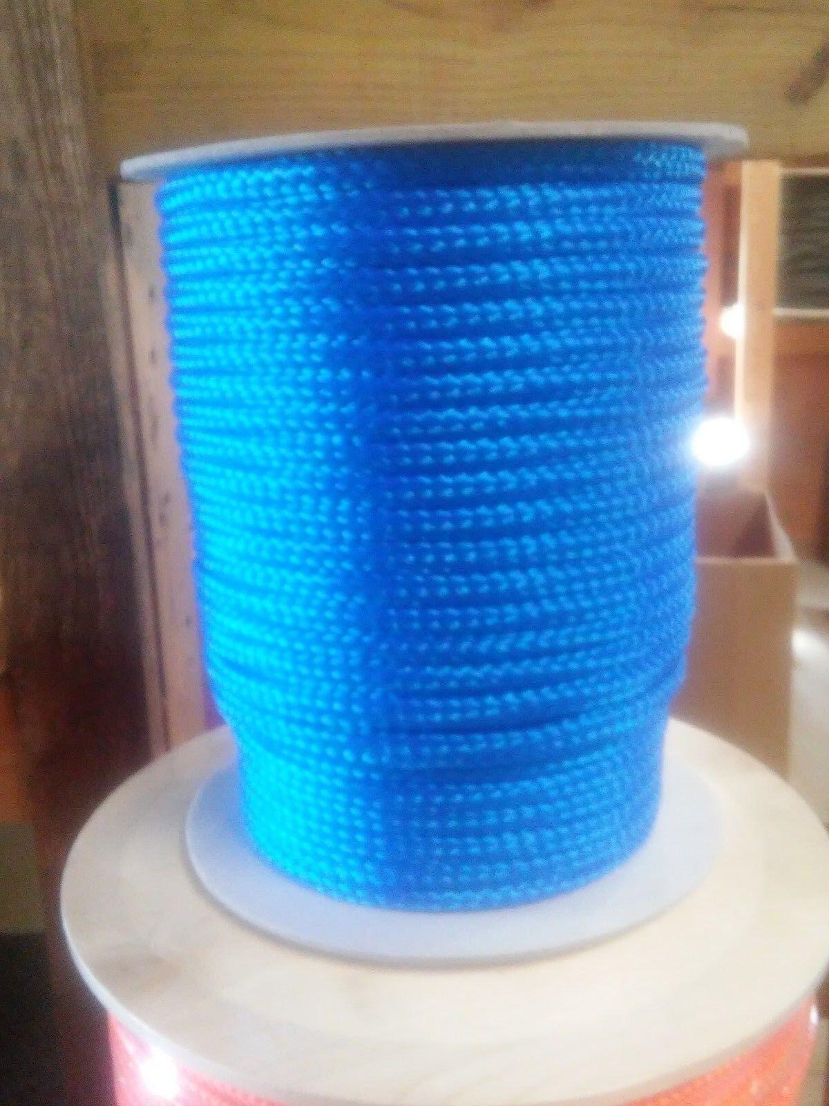 12 mm x 300 Ft. Hilo de polipropileno de tejido hueco.Azul