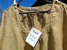 FLAX 3G Citron Gauze Zen Pull Shirt B58 fr 2012 Limited brownish gold  linen 3X