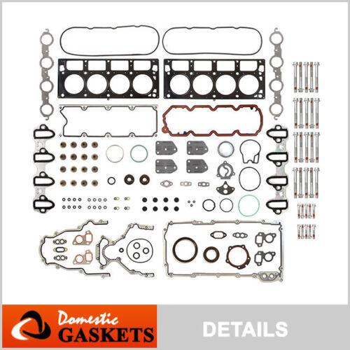 04-09 Chevrolet GMC Buick Cadillac 5.3L 4.8L Full Gasket Set metal intake +Bolts