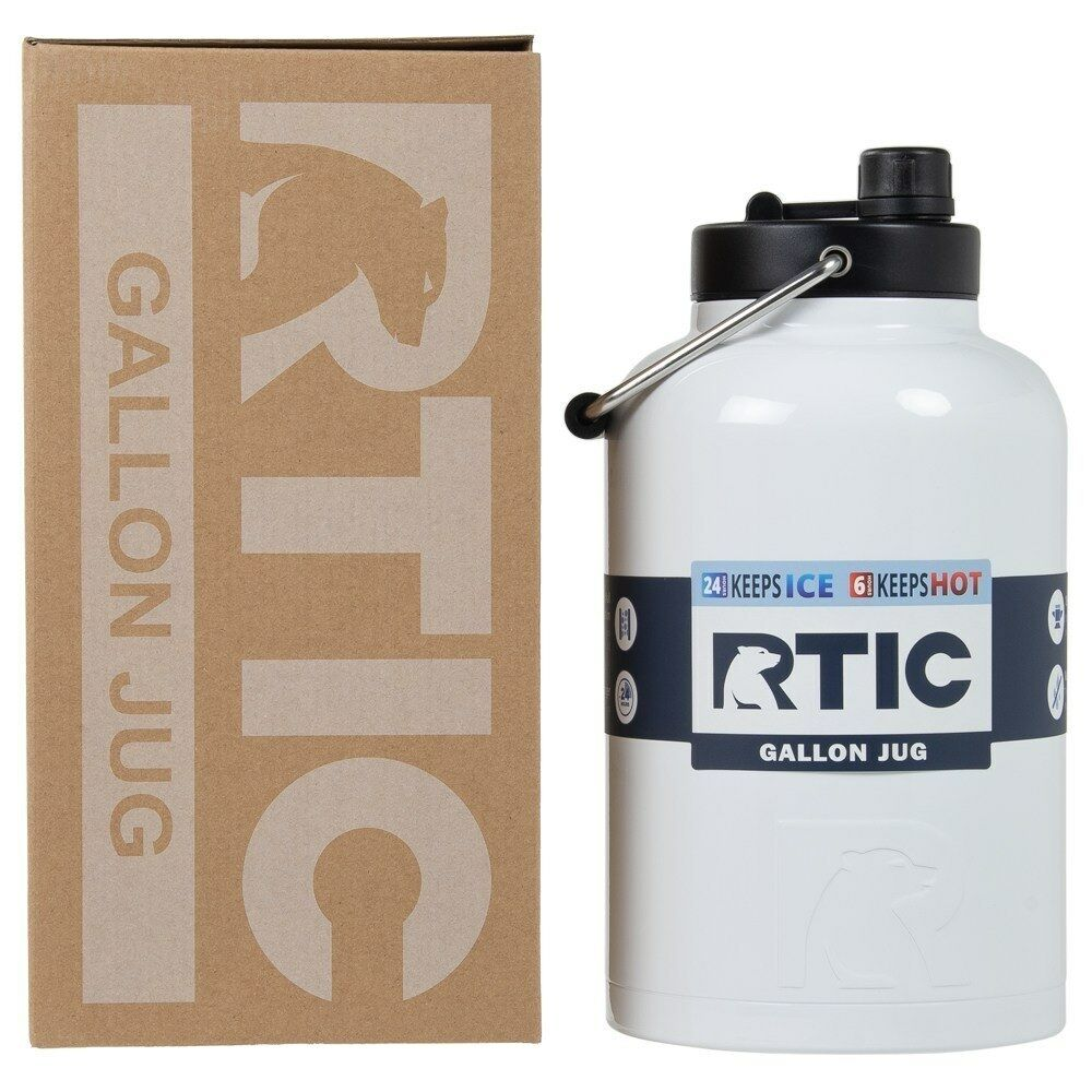NEW RTIC Hot Cold Double Wall Vacuum Insulated One Gallon Jug WHITE