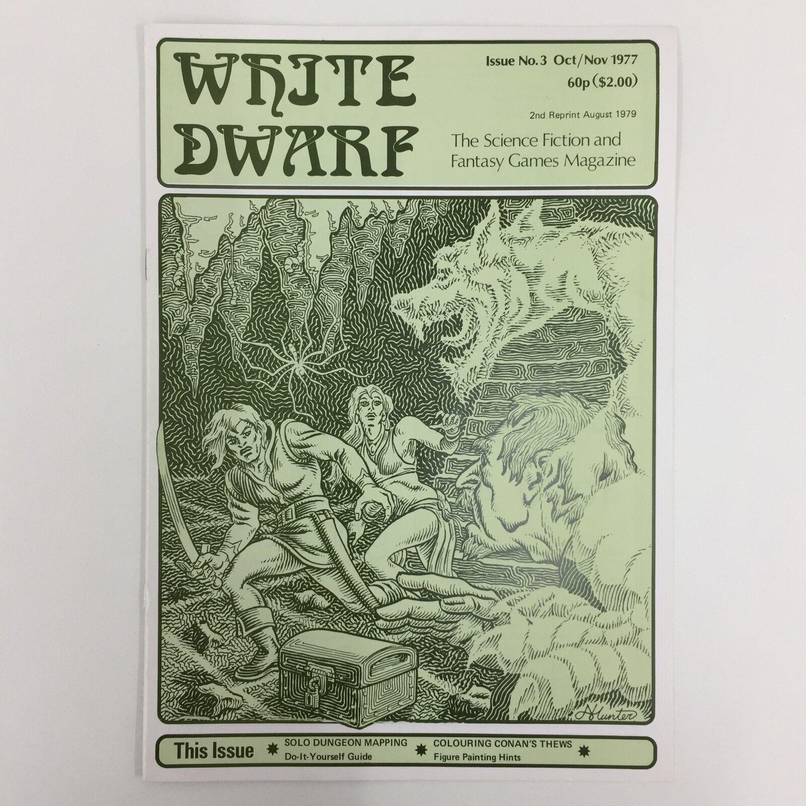 blanco DWARF MAGAZINE Issue 3 2ND RISTAMPA 1979 Games Workshop WARHAMMER D&D TSR