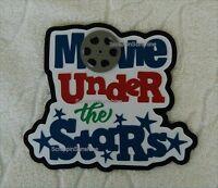 Disney Move Under The Stars Cruise Scrapbook Paper Piece Die Cut Title Ssffdeb
