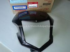 Honda CRF250M CRF250L Headlight Cover Visor Cowl Shroud Black 2012-2016