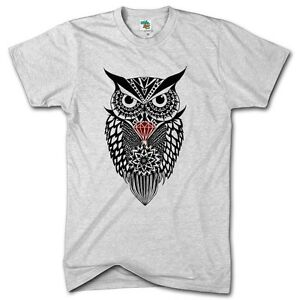 Diamond-Owl-Fashion-Swag-Dope-Tshirt-Mens-Hipster-Top-Womens-Festival-T-Shirt