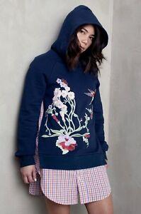 Embroidery Sweatshirt Shirt Hoodie Navy 12 Uk10 S Dress Betina Blue Bird qfPARBwgqy