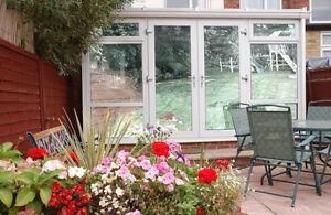 Silver reflective window film one way vision mirrored privacy solar control ebay - Pellicola riflettente per finestre ...