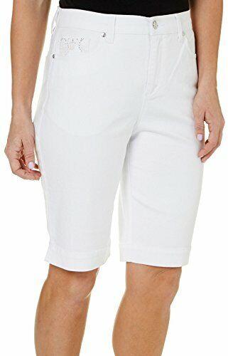 Gloria Vanderbilt Amanda Embroidered Bermuda Shorts