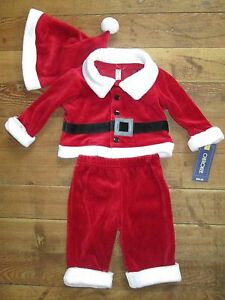 Christmas Cherokee Baby Infant Girl Elf Dress and Leggings with Hat SIZES NB-6Mo