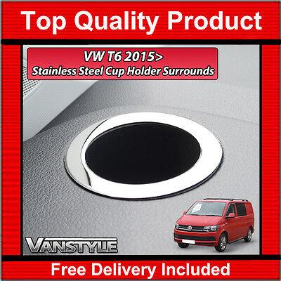 2016+ Chrome Dash Cup Holder Surround Trim To Fit Volkswagen Caravelle