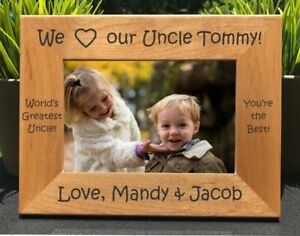 Personalized Engraved I Love My Uncle Picture Frame Ebay