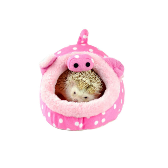 New Pink Pig Small Animal Hamster Bed Hammock Rat Hedgehog Squirrel House Nest Pad For Cage Pet Products Small Animal Supplies
