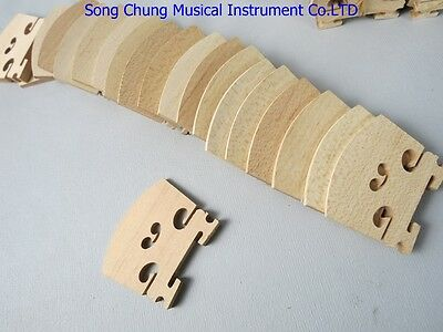 200pcs high grade 4/4 violin bridges fine maple laser precise Violin part