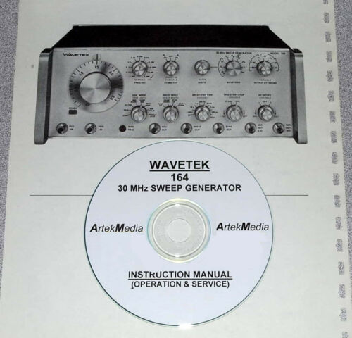 Test Equipment Manuals & Books Ops & Service WAVETEK 164 ...