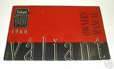 New Old Stock Original 1960 Valiant Owners Manual