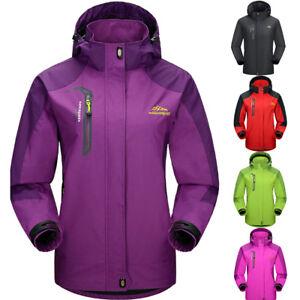 Women-039-s-Outdoor-Sport-Waterproof-Coat-Hooded-Outdoor-Run-Rain-Jacket-Windbreaker