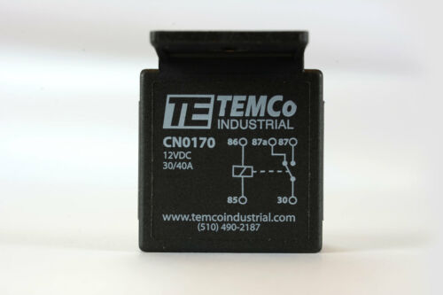 50 LOT TEMCo 12 V 30//40 Amp Bosch Style S Relay with Harness Socket Automotive