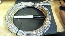 6 lengths 25' each(300ft of wire)Western Electric 24ga PAIR,cloth,silk 1940-50s