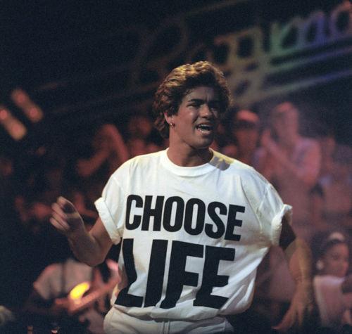 George Michael 80s bien d/'autres choses déguisements choisir la vie t shirt perruque lunettes lot de maquillage