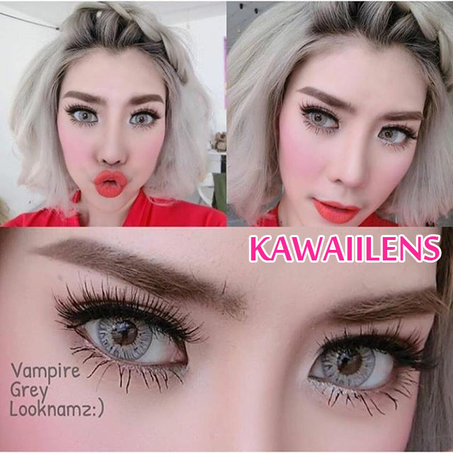 Contact Lenses Color Soft Cosplay PrettyDoll Cosmetic Lens Vampire Gray