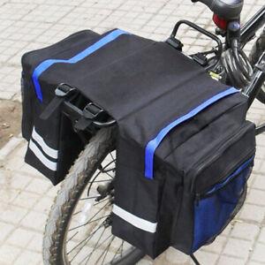 8b865af2f83 Bike Bicycle Cycling Rear Seat Double Panniers Bags Trunk Rack Pack  Waterproof