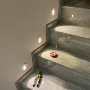 LED Recessed Wall Corner Light Step Stair Walkway Lamp Kit Fixture #Warm White