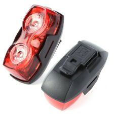 2 Led Tail Rear Flash Light Safety Lamp With Clip Mount For Cycling Bicycle Bike