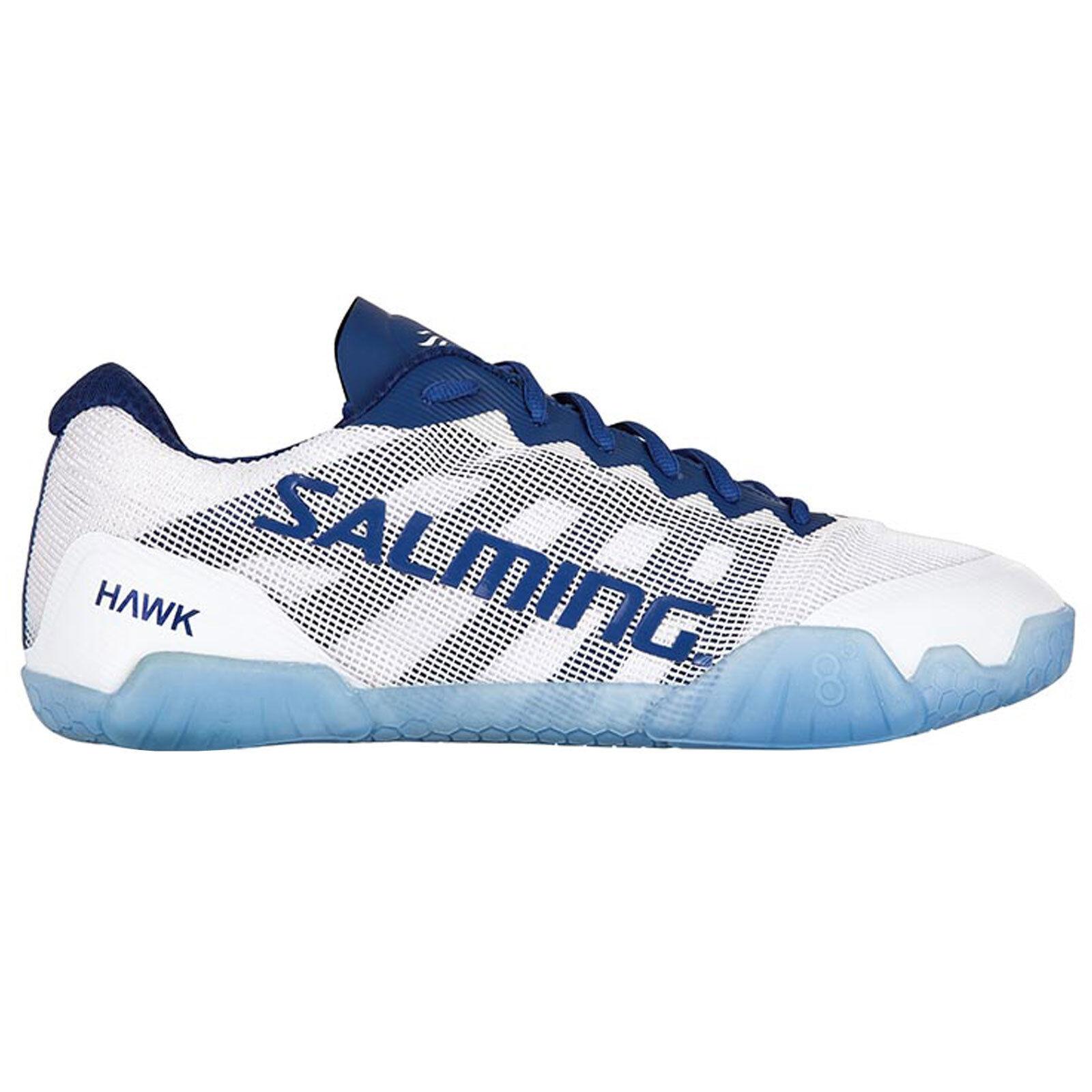 Salming Hawk 2018 Frauen Handballschuhe Handballschuhe Handballschuhe Indoorschuhe Weiss Blau 1238086 0704 2d5aff