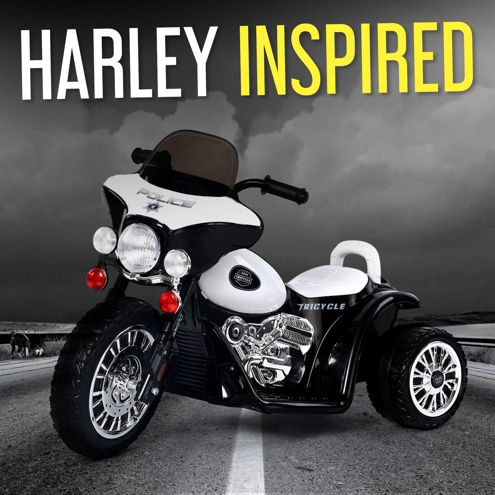 Harley Style Kids 6V Electric Ride On 3 Wheel Bike Battery Tricycle Motorbike