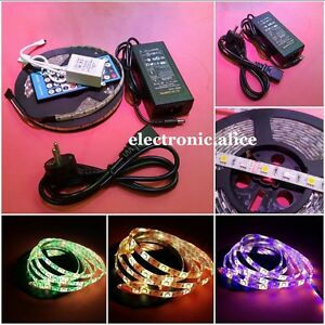 DC24V-5050-RGBW-RGB-Cool-Warm-white-5M-300-led-LED-Strip-Light-40ky-Controller