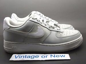 4004cd2b01 Nike Air Force 1 Low '07 Neutral Grey White GS 2008 sz 7Y   eBay