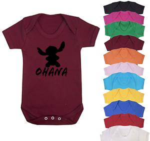 Ohana Disney Inspired Baby Vest Babygrow Baby Gifts Baby Shower Gifts New Baby