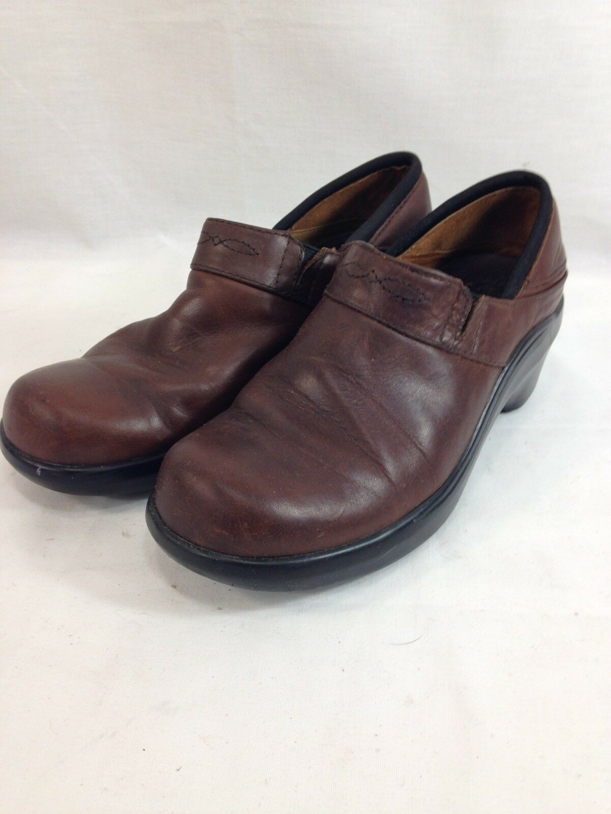 Ariat chaussures Clogs Mules femmes 8 M marron Leather Slip On Comfort