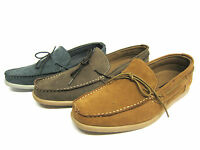 Mens Maverick Leather Slip On Casual Deck/Boat Shoes Style A1101